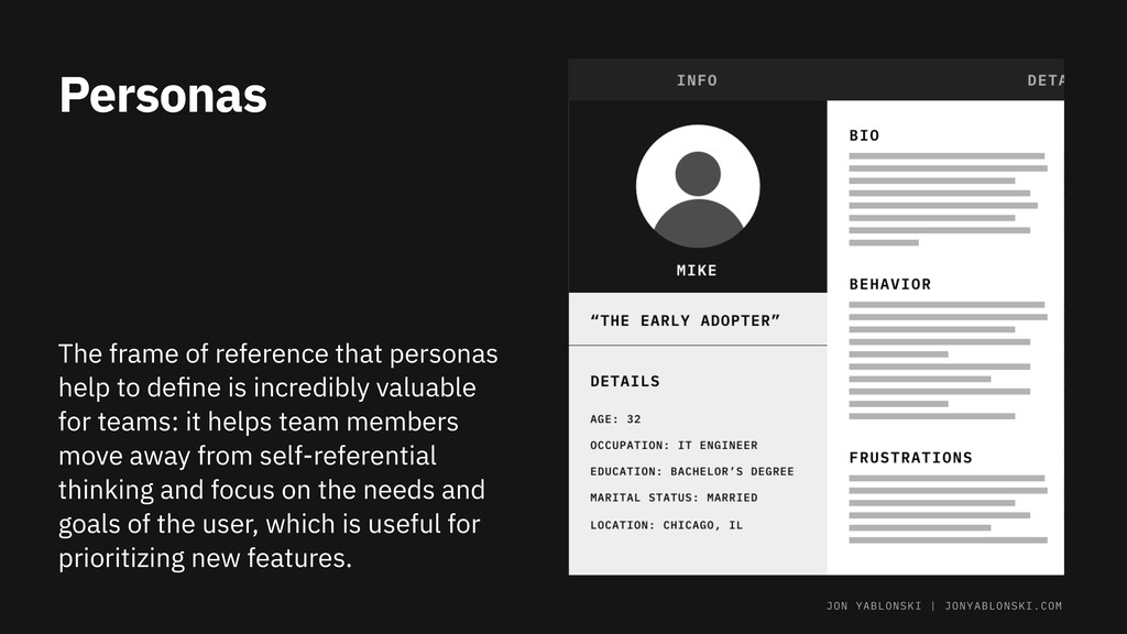Personas The frame of reference that personas h...