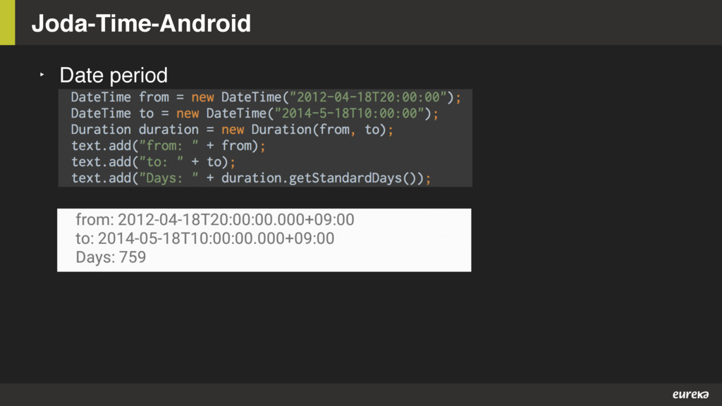‣ Date period Joda-Time-Android
