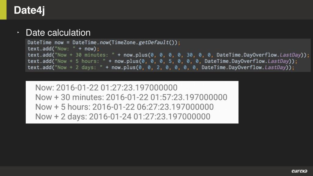 Date4j ‣ Date calculation
