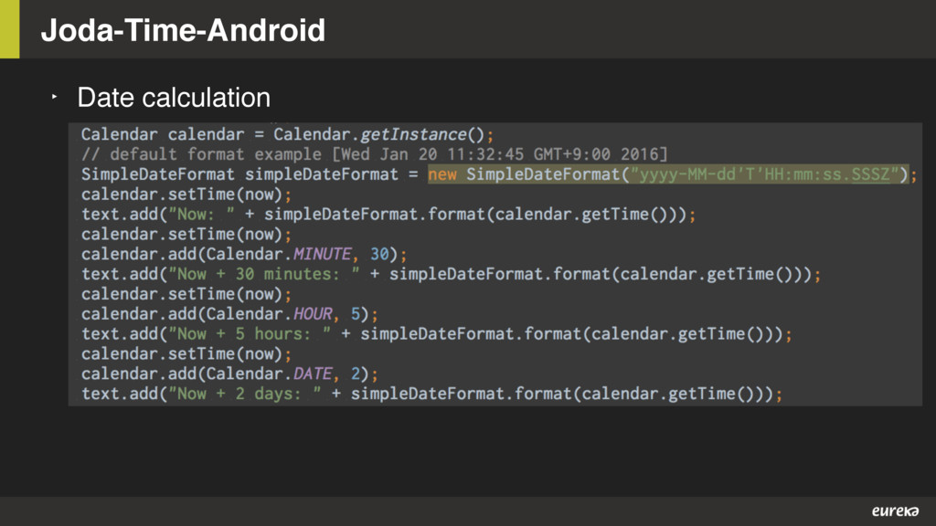 Joda-Time-Android ‣ Date calculation
