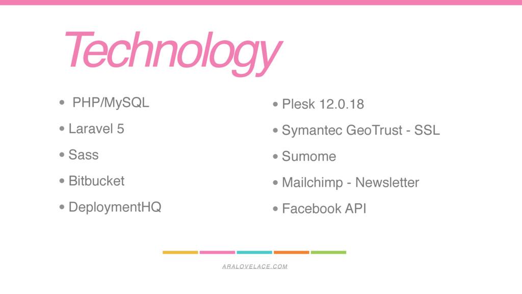 ARALOVELACE.COM Technology • Plesk 12.0.18 • Sy...