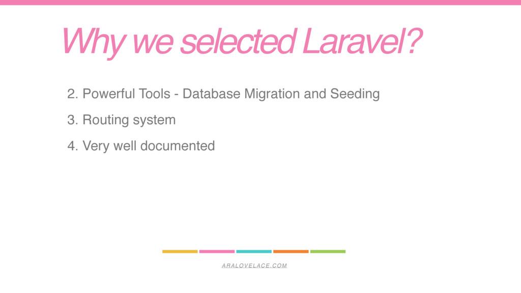 ARALOVELACE.COM Why we selected Laravel? 2. Pow...
