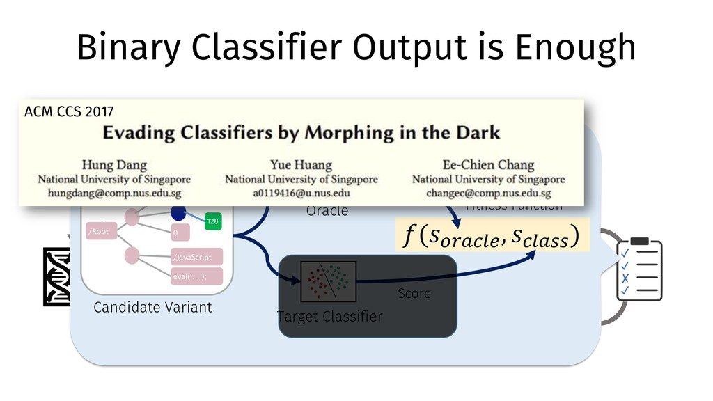 Variants Binary Classifier Output is Enough Clo...