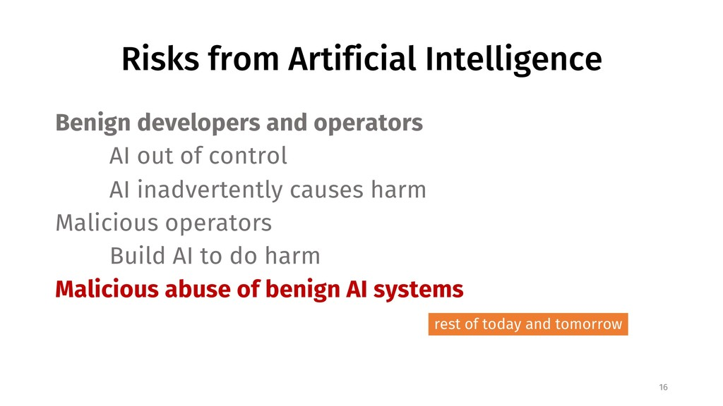Risks from Artificial Intelligence Benign devel...
