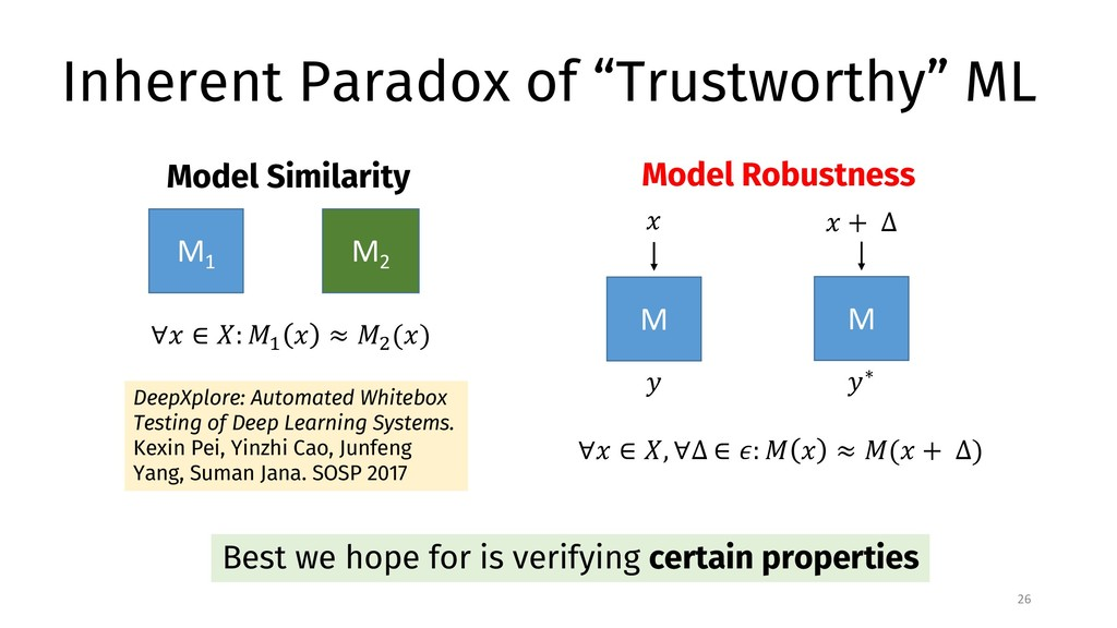 "Inherent Paradox of ""Trustworthy"" ML 26 Best we..."