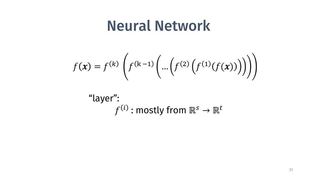 """Neural Network 31 ! """" = ! $ ! % &' … ! ) ! ' !(..."""