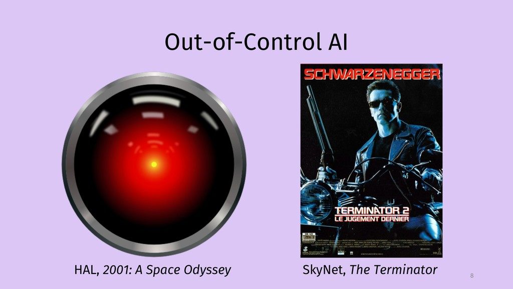 Out-of-Control AI 8 HAL, 2001: A Space Odyssey ...