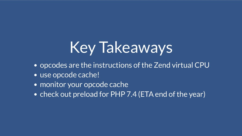 Key Takeaways opcodes are the instructions of t...