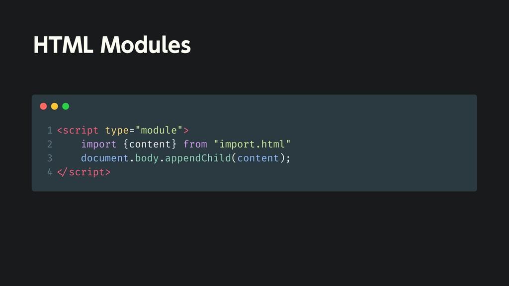 HTML Modules