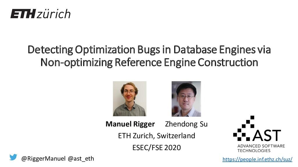 Detecting Optimization Bugs in Database Engines...