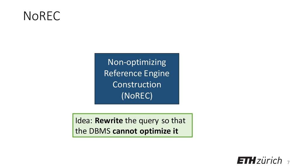 7 Non-optimizing Reference Engine Construction ...