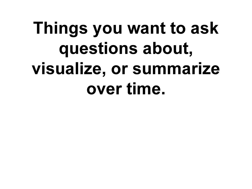 Things you want to ask questions about, visuali...