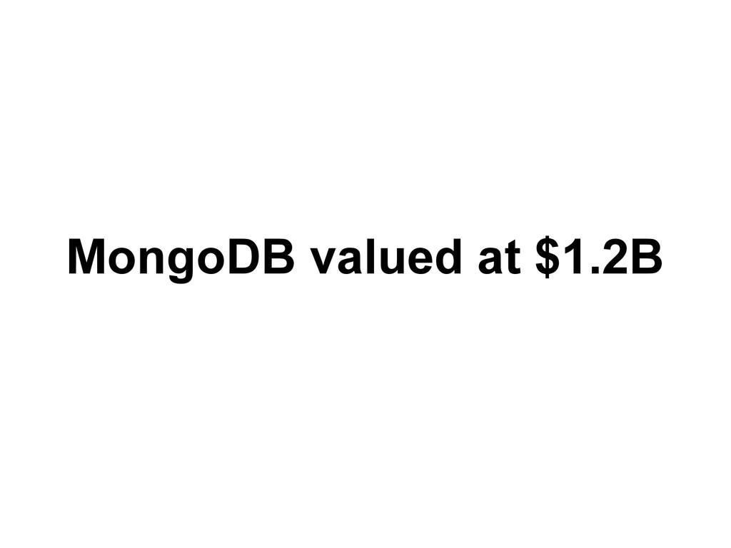 MongoDB valued at $1.2B