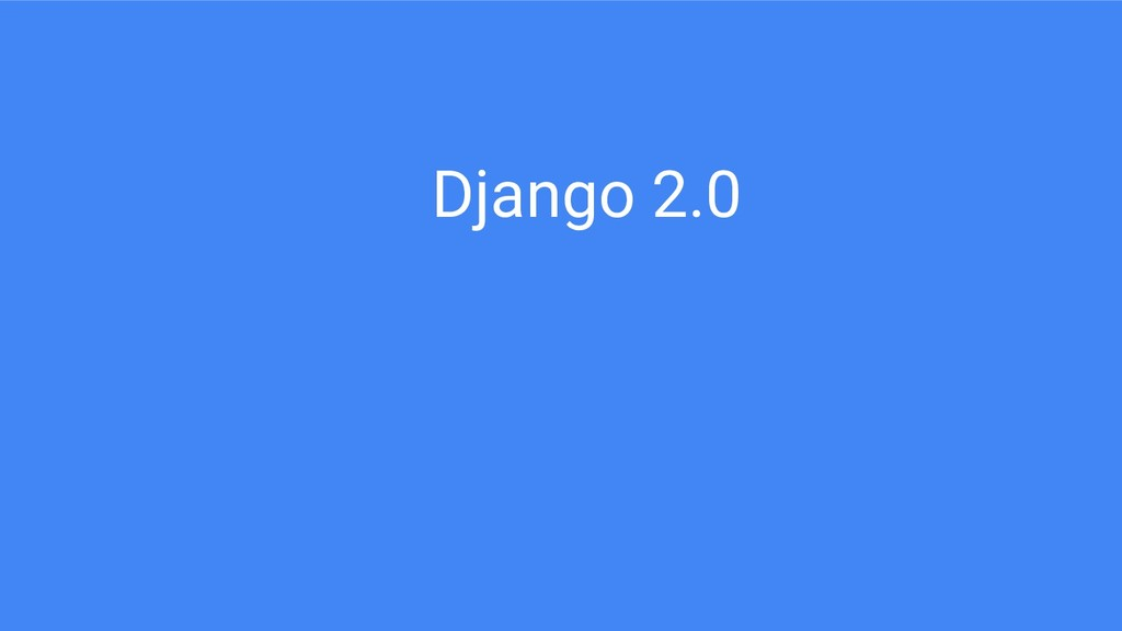 Django 2.0