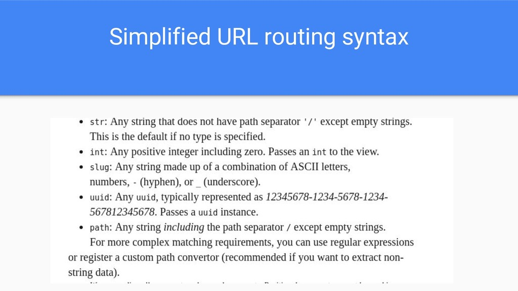 Simplified URL routing syntax