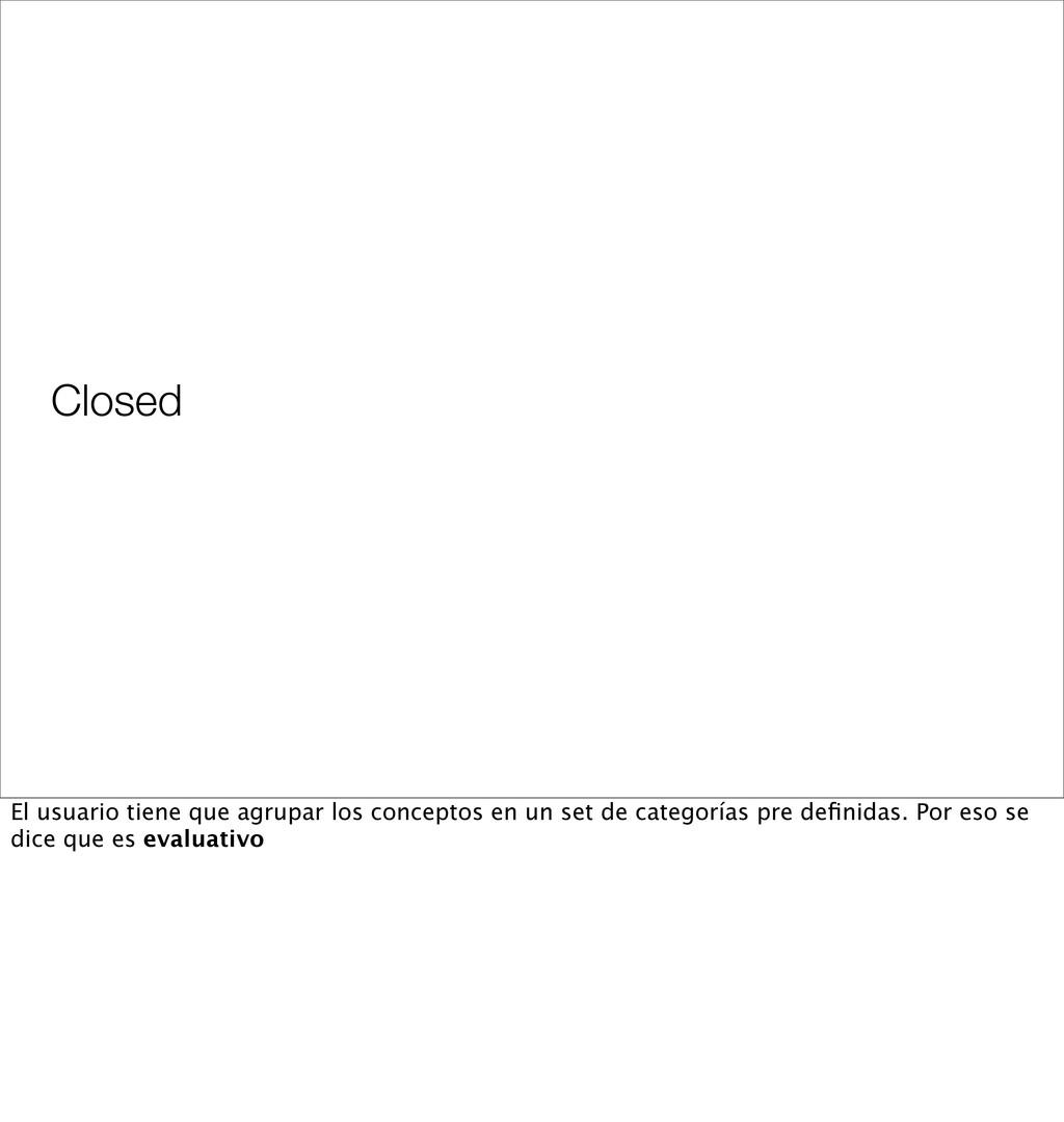 Closed El usuario tiene que agrupar los concept...