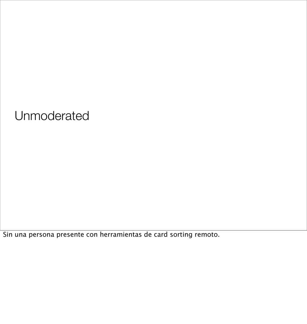 Unmoderated Sin una persona presente con herram...