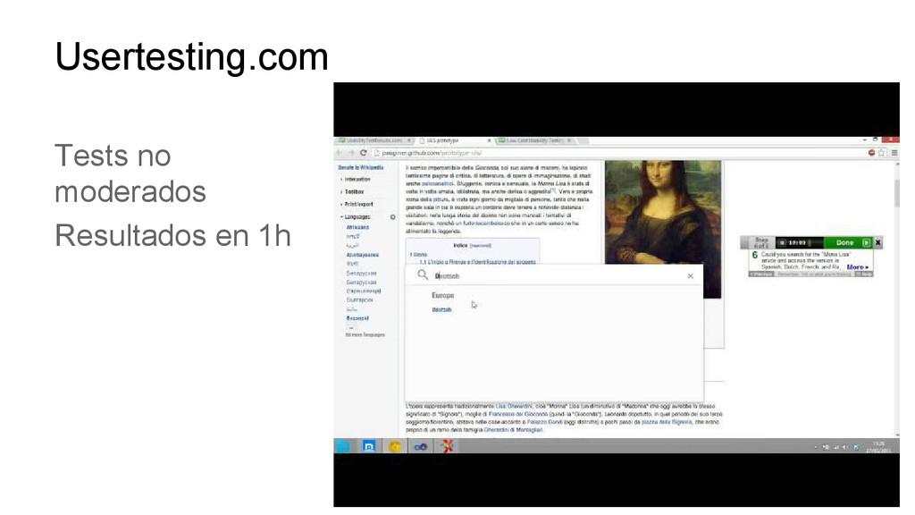 Usertesting.com Tests no moderados Resultados e...
