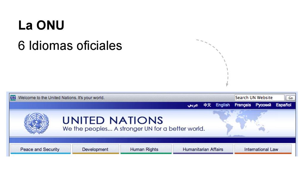 La ONU 6 Idiomas oficiales