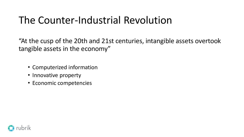 "The Counter-Industrial Revolution ""At the cusp ..."