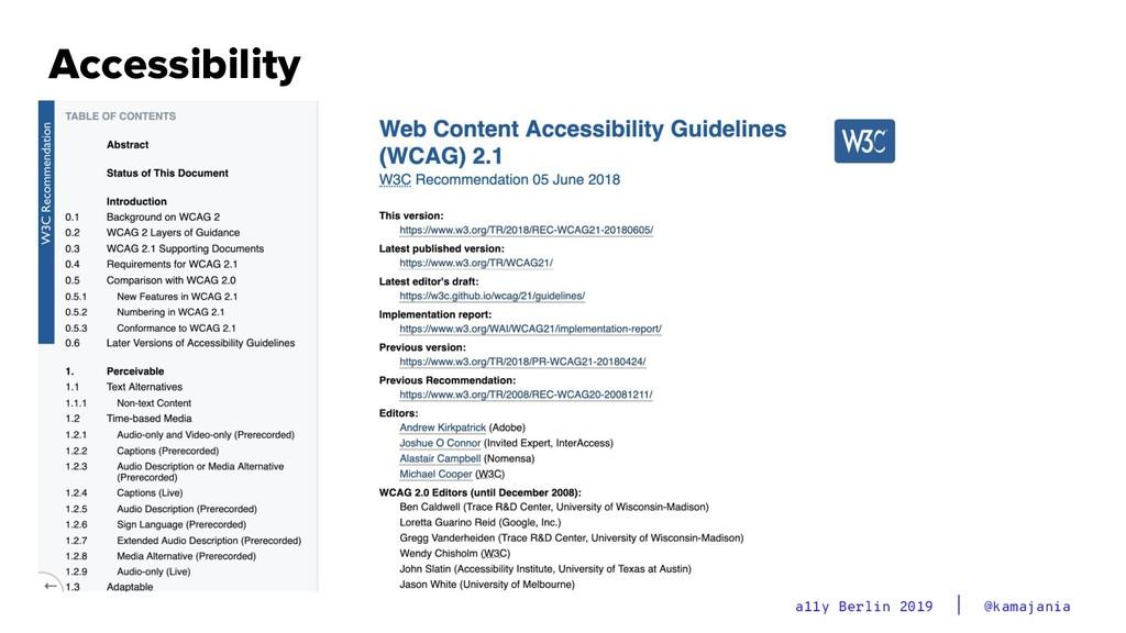 @kamajania a11y Berlin 2019 Accessibility