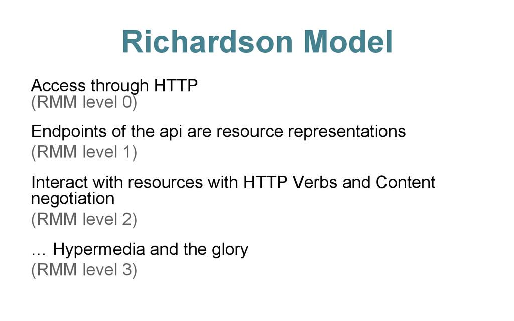 Richardson Model Access through HTTP (RMM level...