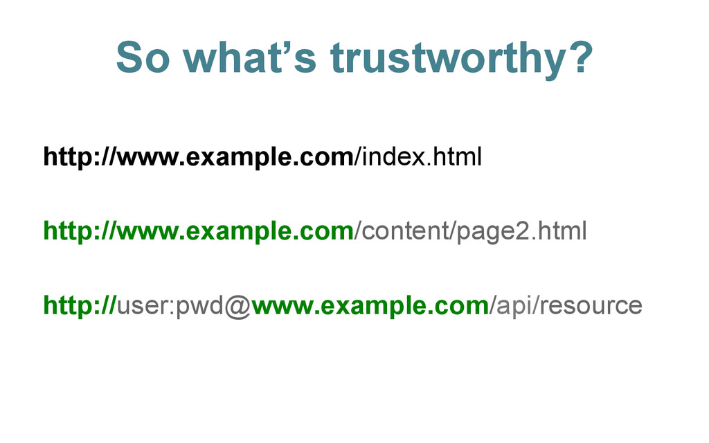 So what's trustworthy? http://www.example.com/i...