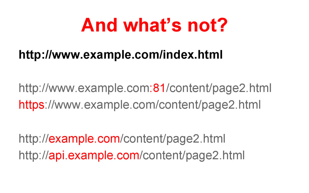 And what's not? http://www.example.com/index.ht...