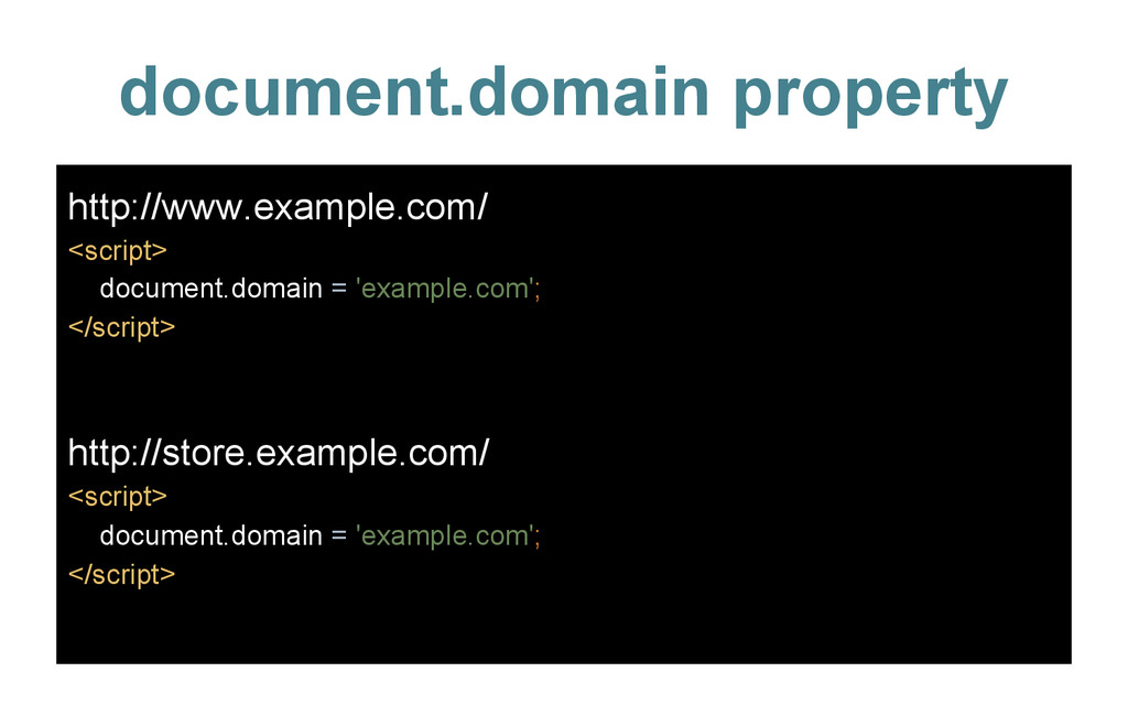 document.domain property http://www.example.com...