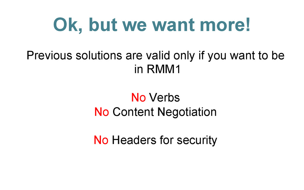 Ok, but we want more! Previous solutions are va...