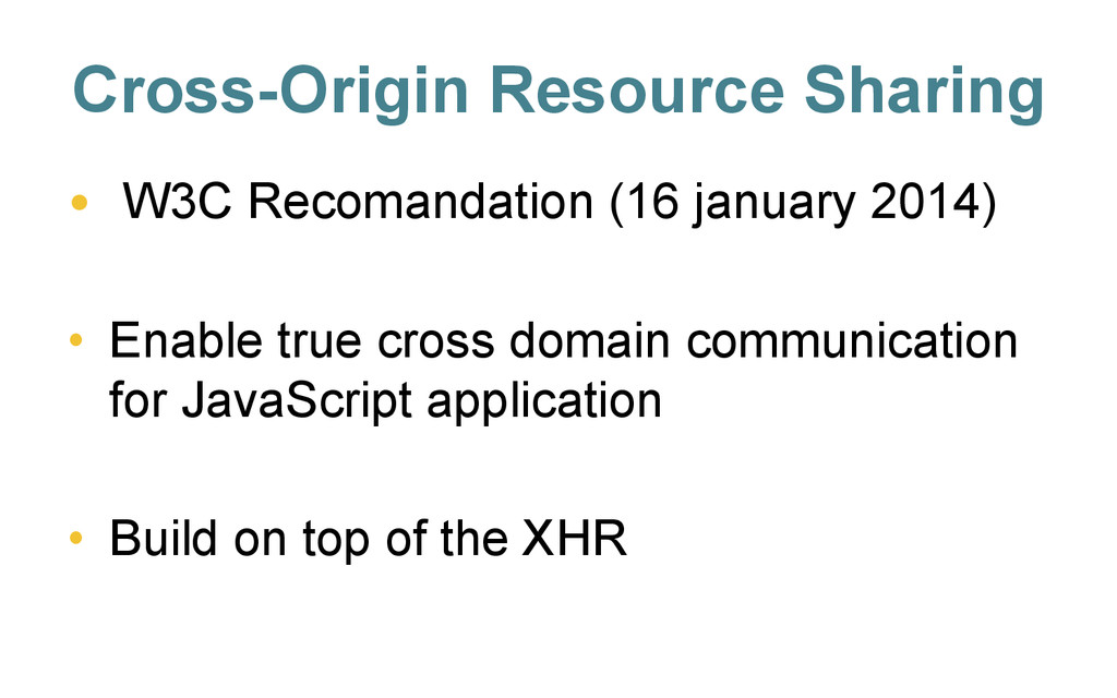 Cross-Origin Resource Sharing • W3C Recomandat...