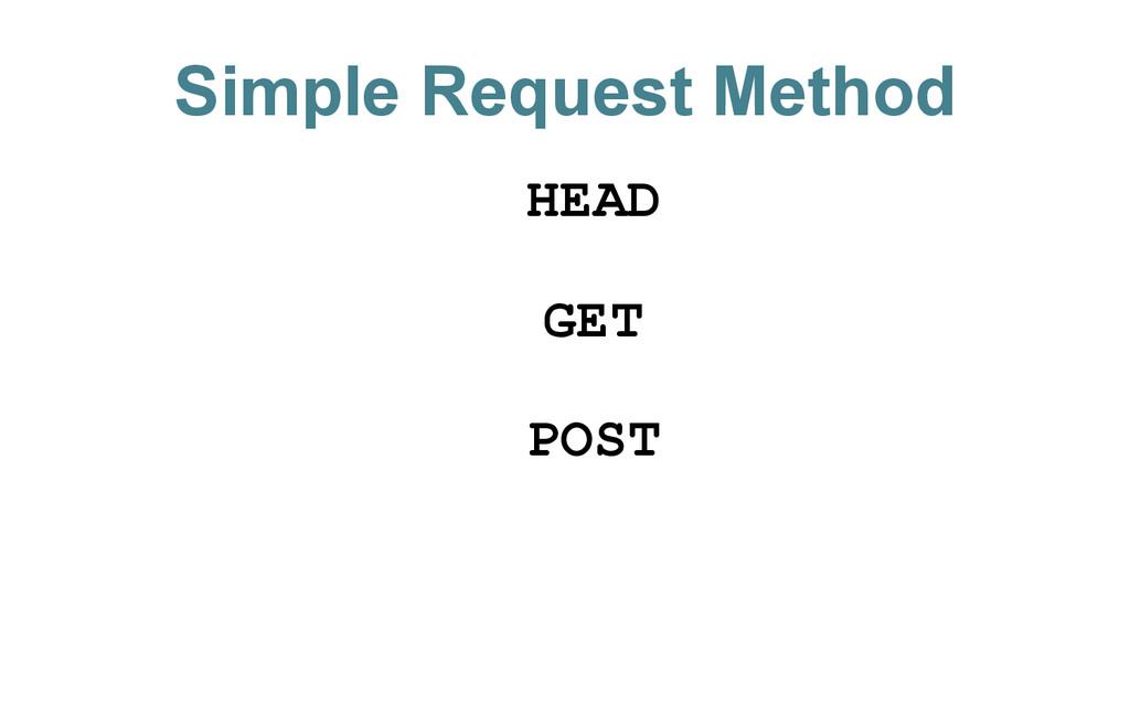 Simple Request Method HEAD GET POST