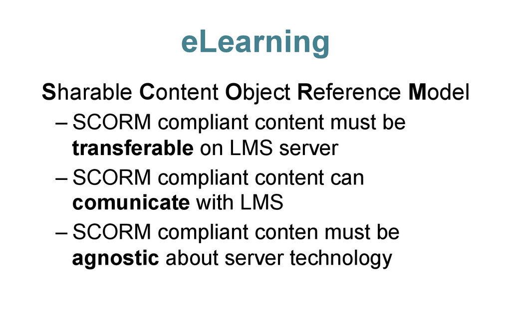 eLearning Sharable Content Object Reference Mod...