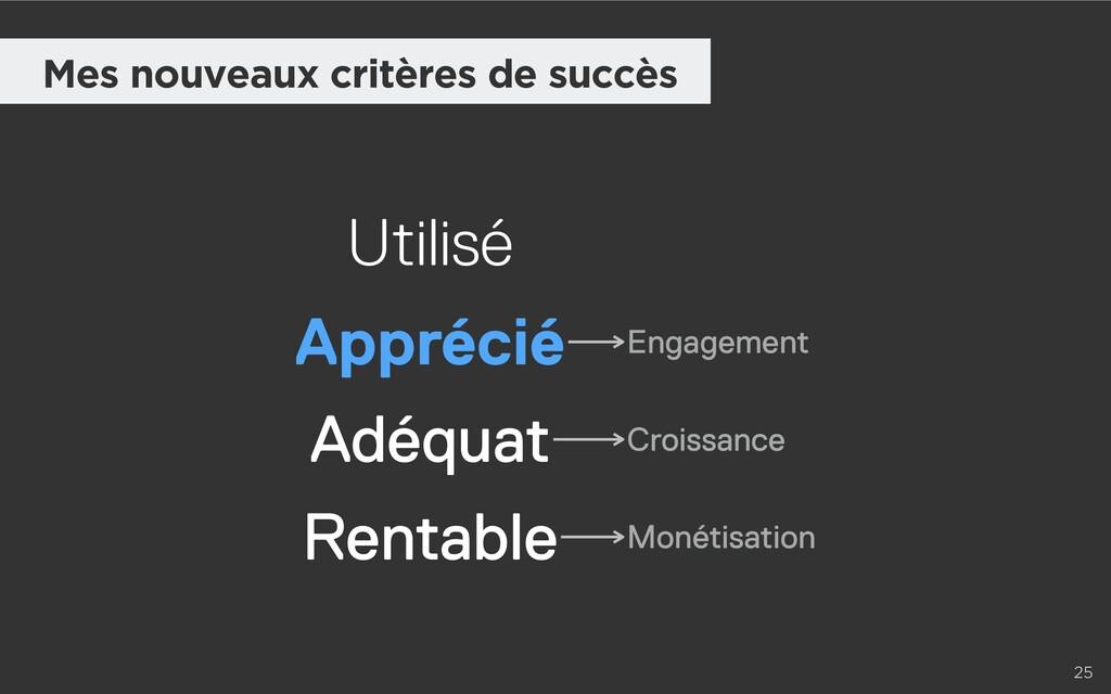 25 Mes nouveaux critères de succès Adéquat Util...
