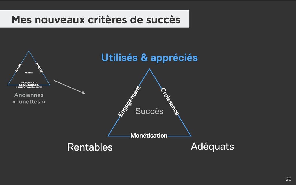 26 Mes nouveaux critères de succès Utilisés & a...