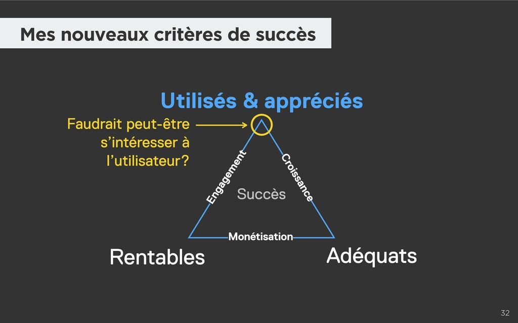 32 Mes nouveaux critères de succès Utilisés & a...