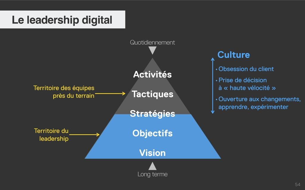 54 Le leadership digital Activités   Tactiques ...