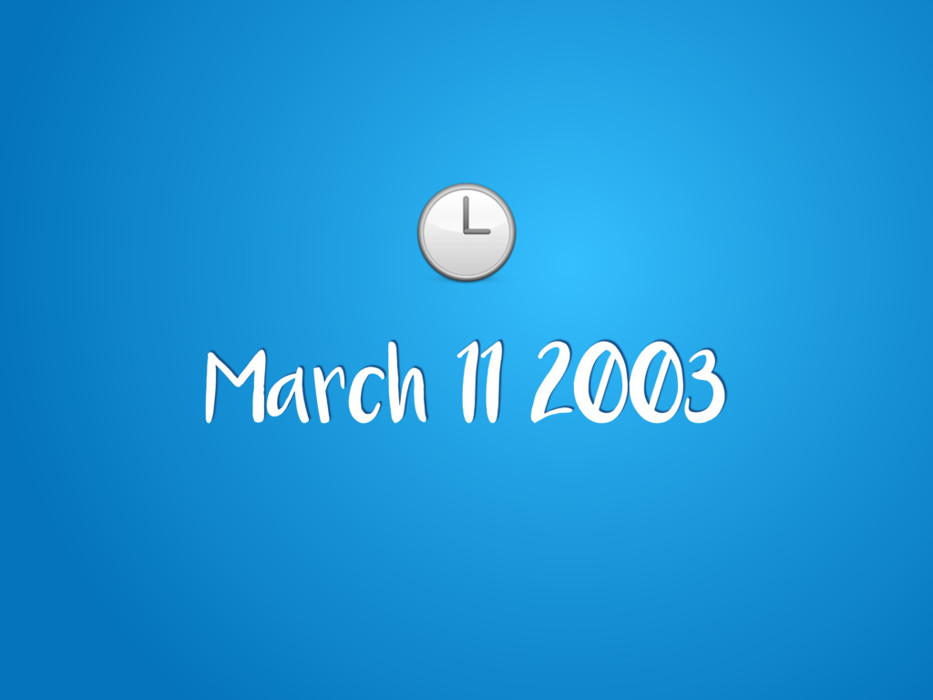 March 11 2003