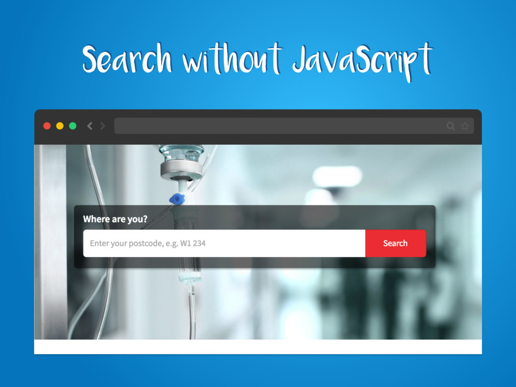 Search without JavaScript