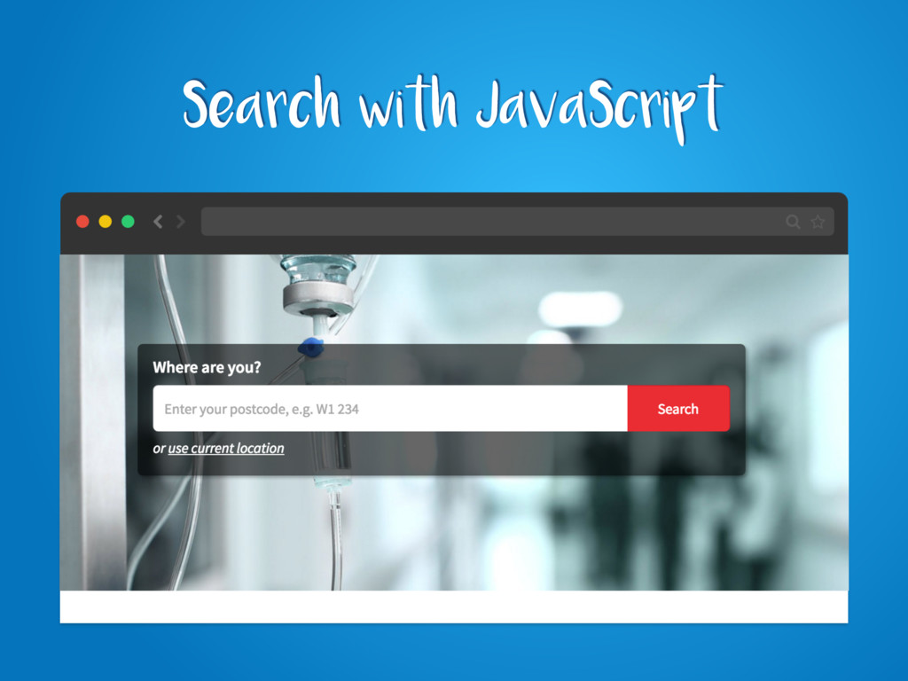 Search with JavaScript