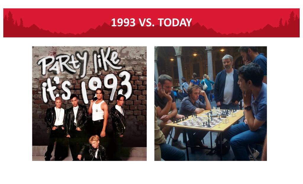 1993 VS. TODAY