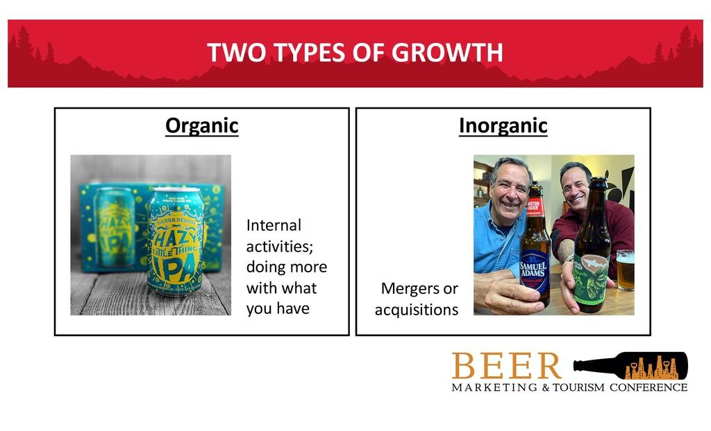 TWO TYPES OF GROWTH Organic Inorganic Mergers o...