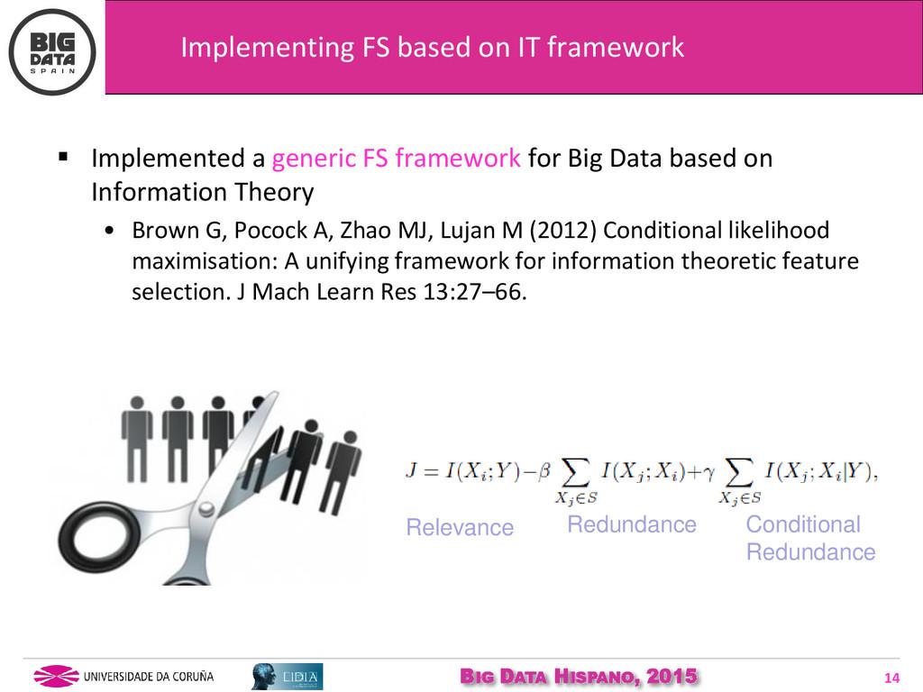 BIG DATA HISPANO, 2015 14  Implemented a gener...