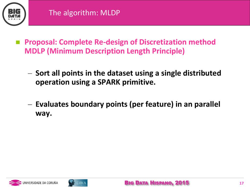 BIG DATA HISPANO, 2015 17  Proposal: Complete ...