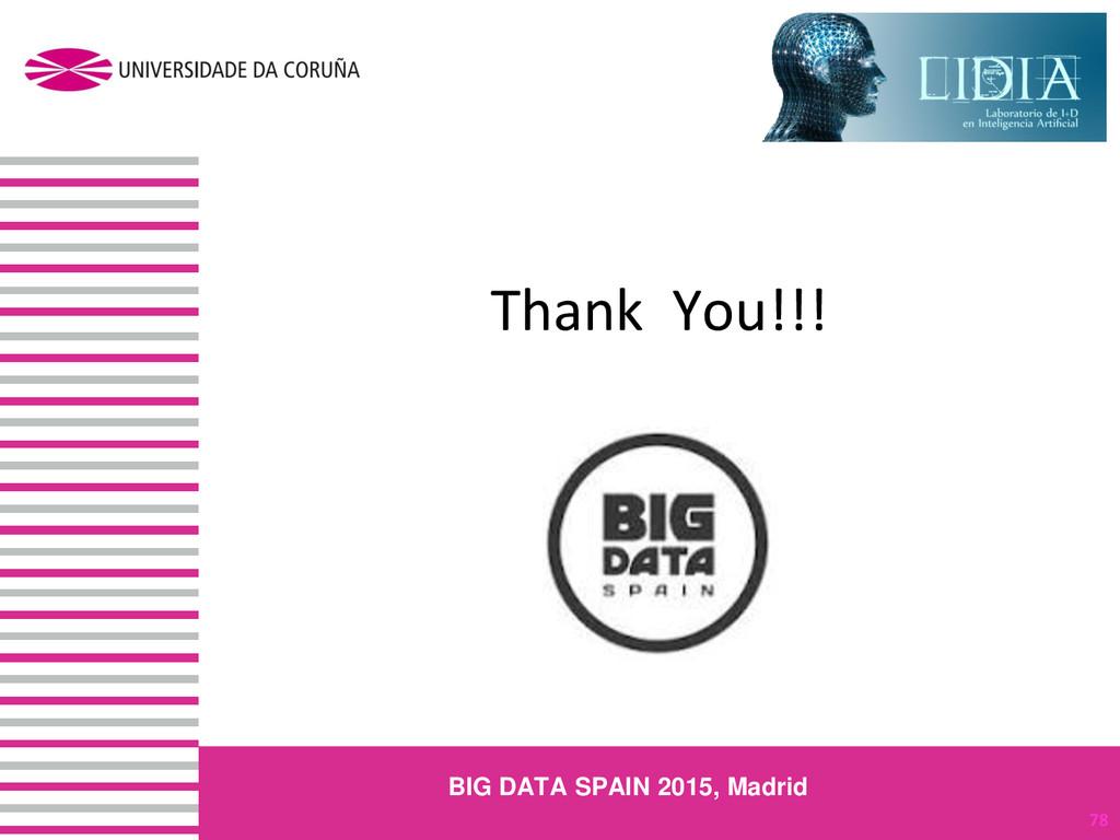 Thank You!!! 78 BIG DATA SPAIN 2015, Madrid