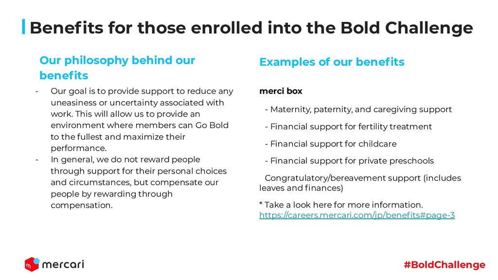 #BoldChallenge Benefits for those enrolled into ...