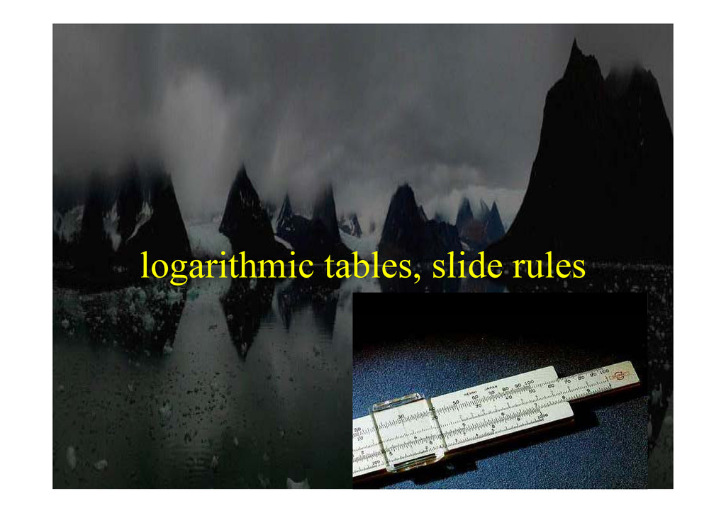 l ith i t bl lid l logarithmic tables, slide ru...