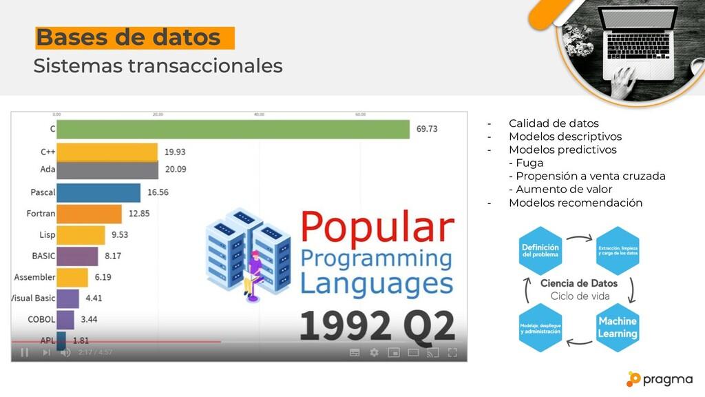 Bases de datosx - Calidad de datos - Modelos de...