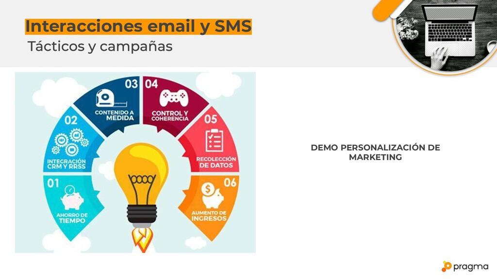 Interacciones email y SMS DEMO PERSONALIZACIÓN ...