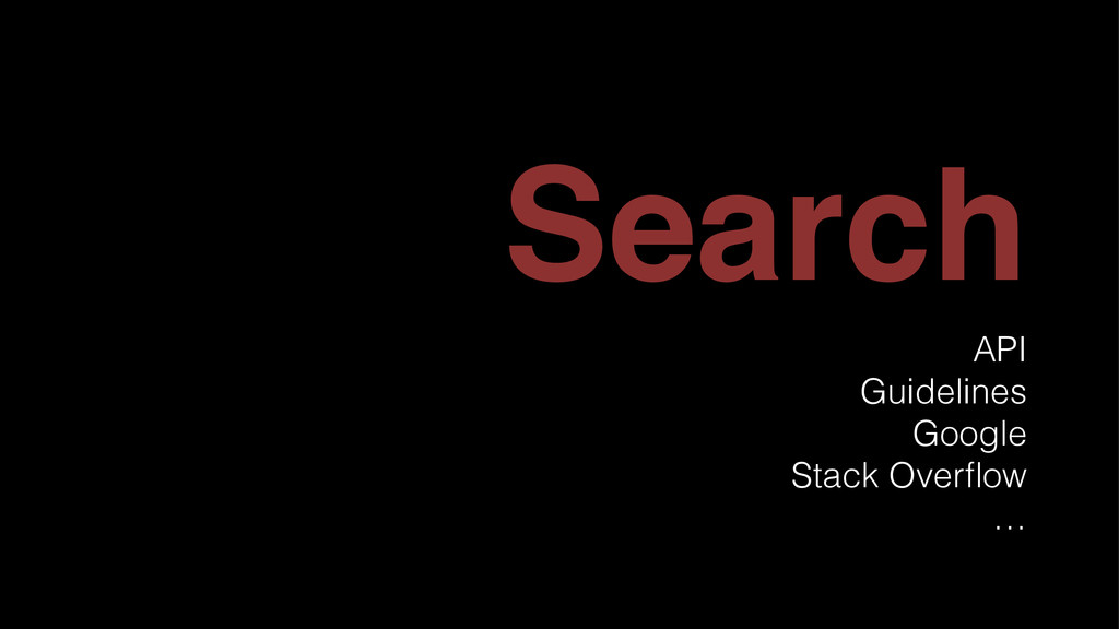 Search API Guidelines Google Stack Overflow …